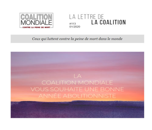 Newsletter janvier 2020