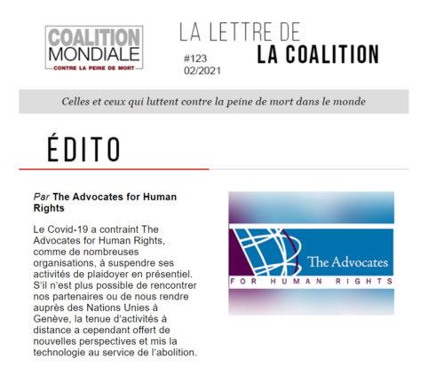 Newsletter FR février 2021